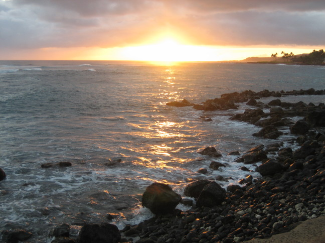 Sunset  at  Kuhio  Shores Kauai Hawaii Vacation Rental